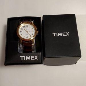 @new@ man timex watch, leather strap